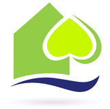 Green nature eco house icon Stock Photography