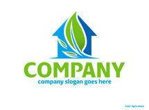 Green nature eco house logo Royalty Free Stock Photography