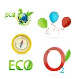 Green nature and eco symbols set Stock Photo