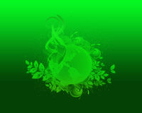 Green Nature and Ecology Backround. Green Nature Eco and Globe Backround Royalty Free Stock Photos