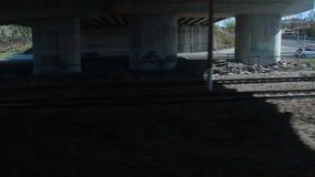 Green Nature, fast train window view , houses , 2016. Turkey ankara city from konya city tranport fast train stock footage