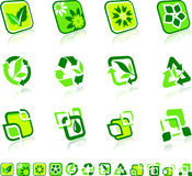 Green Nature Icons Stock Image