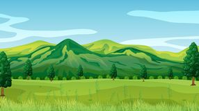 A green nature landscape. Illustration royalty free illustration