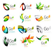 Green nature leaf vector concept icon set Stock Photo