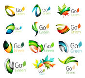 Green nature leaf vector concept icon set Stock Image