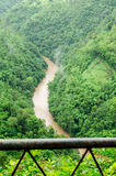 Green nature mountains and rivers flood during in the rainy season Stock Photography