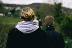 Green, Nature, People, Blond, Bun Stock Images