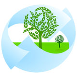 Green nature protection. And landscape Royalty Free Stock Images