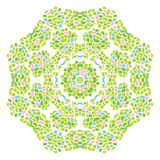 Green nature round leaf pattern Stock Photo