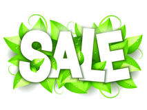 Green Nature Sale Announcement Stock Images