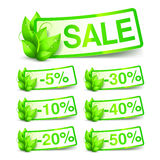 Green Nature Sale Tags Royalty Free Stock Images