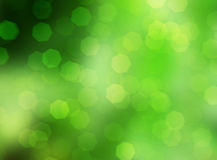 green nature with sparkle bokeh, soft christmas lights background Stock Photography