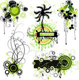 Green nature-themed motifs Stock Image