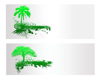 Green Nature Tree  Banner. And Backround Stock Image