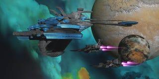Green Nebular Expanse Royalty Free Stock Photo