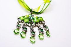 Green necklace Stock Photo
