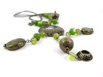 Free Green Necklace Royalty Free Stock Image - 3777286