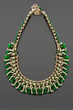 Green necklace Royalty Free Stock Image