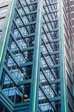 Green Neon on Black Office Building Stock Photos