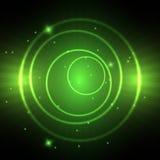 Green neon circle royalty free illustration