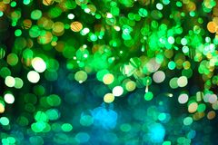Green Neon Festive Christmas elegant abstract background with Purple and Neon bokeh lights. And stars royalty free illustration