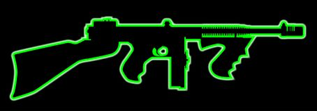 Neon Tommy Gun Stock Images