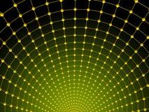 Green net. Green background as mesh. 3d render stock illustration