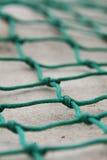 Green net. Close up of green fishing net Stock Photos