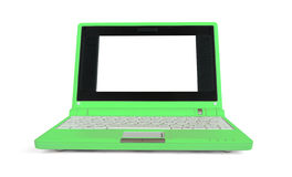 Green netbook Royalty Free Stock Photos