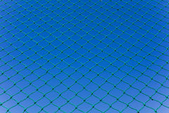 Green Netting Blue Sky Royalty Free Stock Image