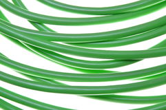 Green network cables, close up Stock Photos