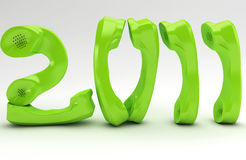 Green New Year Stock Photography