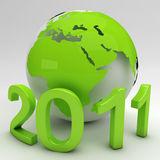 Green New Year Stock Photo