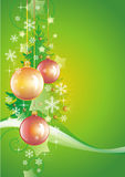 Green New Year background vertical Royalty Free Stock Photography