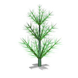 The green New Year Christmas fir-tree Royalty Free Stock Photo