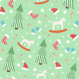 Green New Year pattern Stock Images