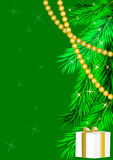 Green new year's background Royalty Free Stock Image