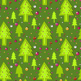 Green new year's pattern Royalty Free Stock Photos