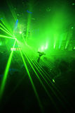 Green Night Club Party Background. Night Club Music Event Party Laser Lights Background Stock Photos