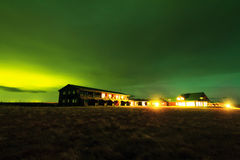 Green night Iceland Royalty Free Stock Images