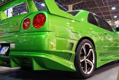 Green Nissan Skyline Stock Images