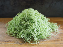 Green noodles. Prepare for cook Royalty Free Stock Photos