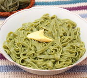 Green noodles Royalty Free Stock Photography