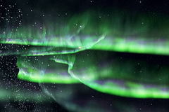 Green northern lights. aurora Royalty Free Stock Image