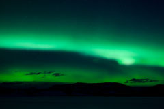 Green northern lights (aurora borealis) Royalty Free Stock Photography