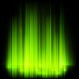 Green northern lights, aurora borealis. EPS 10 Royalty Free Stock Image