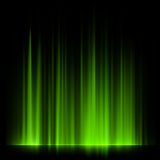 Green northern lights, aurora borealis. EPS 10 Stock Photo