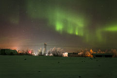 Green Northern lights Royalty Free Stock Images
