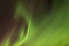 Green Northern lights Royalty Free Stock Image