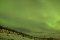 Green Northern lights Royalty Free Stock Photos